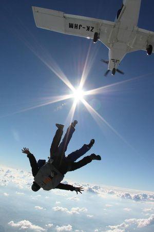 Fallschirmspringen Beromünster